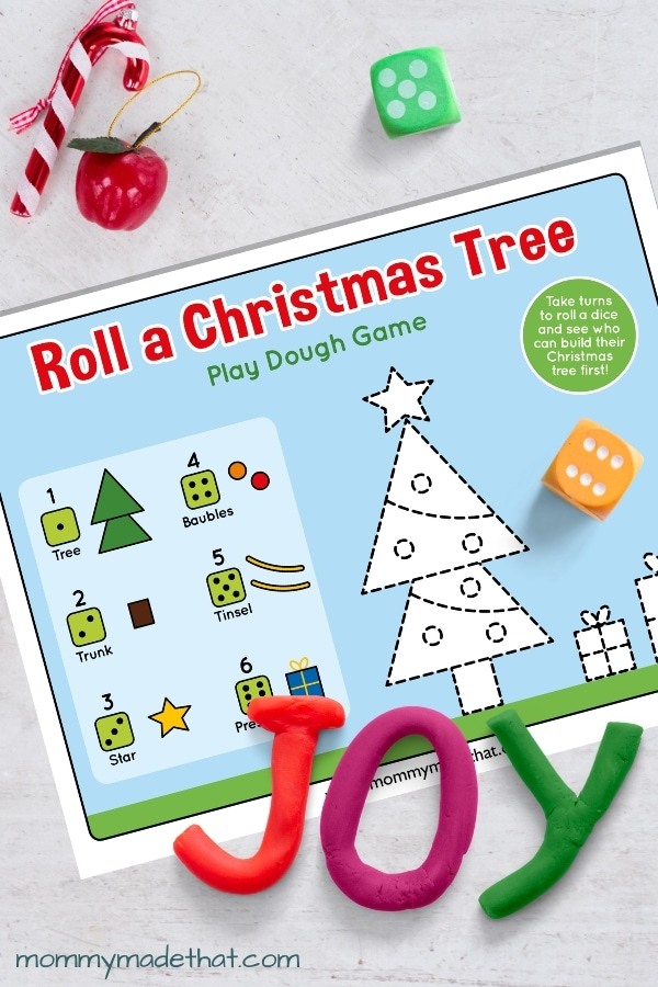 Christmas playdough mat