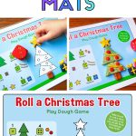 Free printable playdough mat with Christmas tree