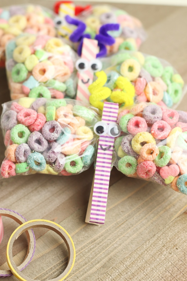 clothespin butterfly snack bags