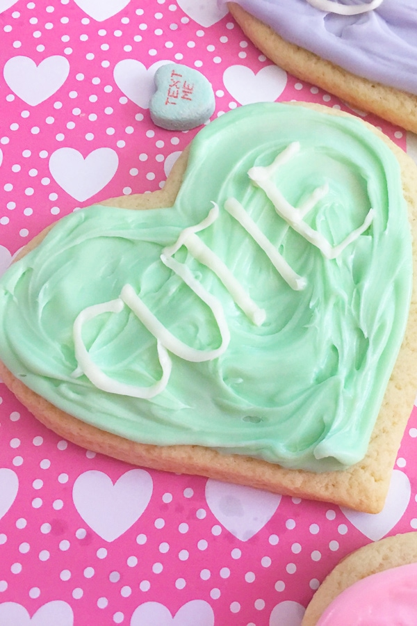conversation heart cookie recipe