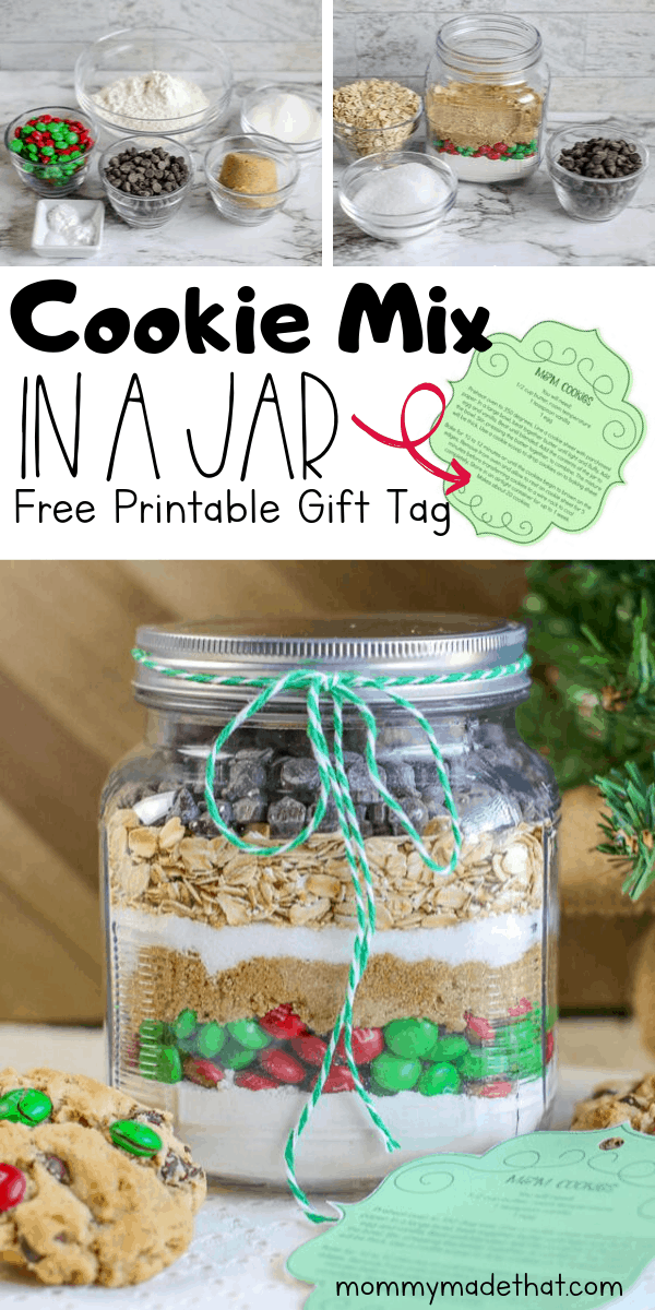 cookie mix gift jar printable tag