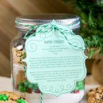 cookie mix in a mason jar gift