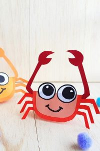 crab craft for kids and preschoolers