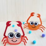 cute crab craft for kids and preschoolers