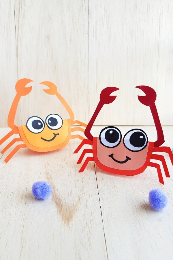 Cute crab craft for kids