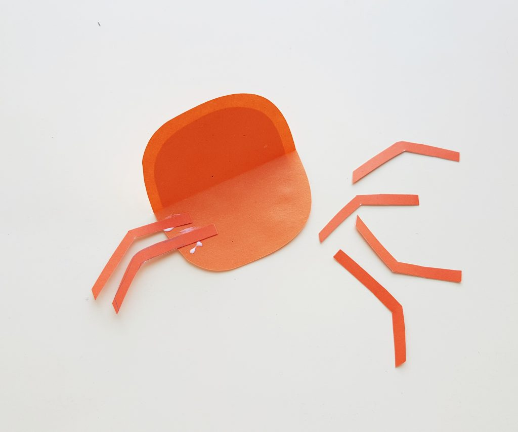 crab craft using paper template for kids