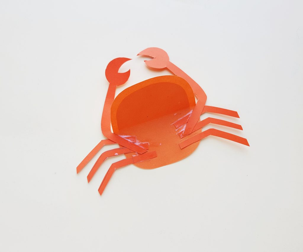 step 5 of making paper crab craft