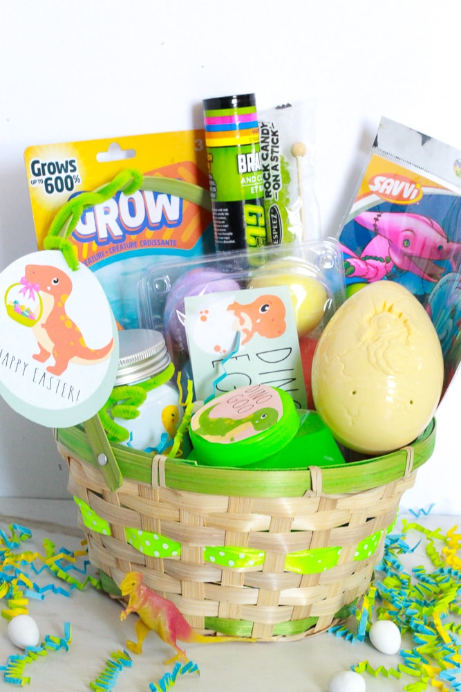 picture about Easter Basket Printable called Dinosaur Easter Basket Designs + Cost-free Printable!