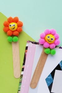 Cute flower bookmarks