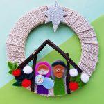 cute nativity wreath craft