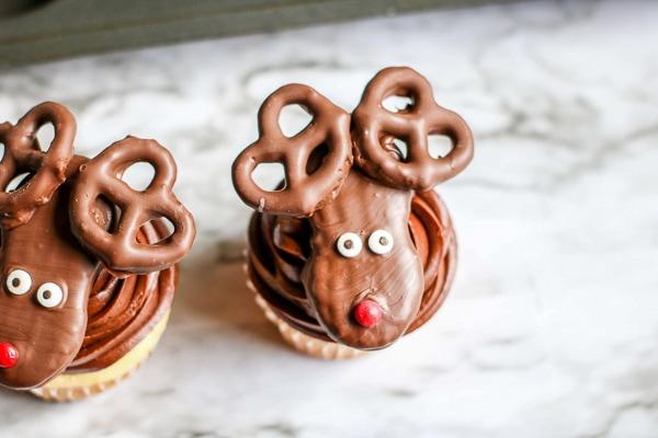 cute reindeer cupcake recipe