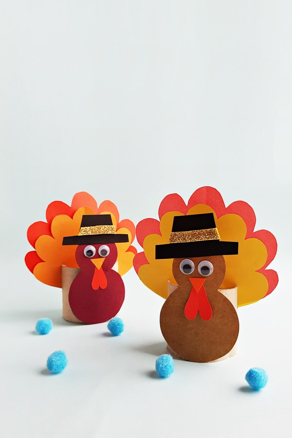 turkey craft for kids made from toilet paper roll