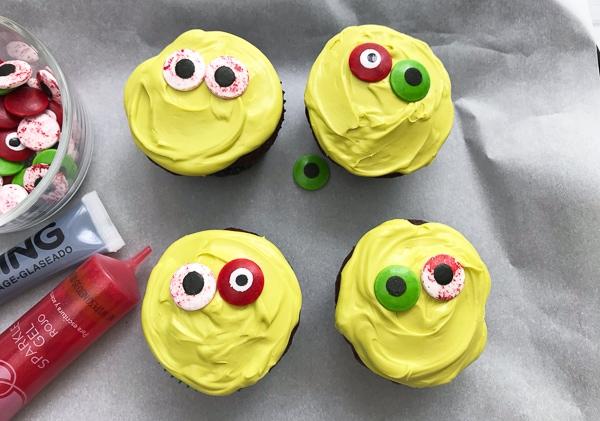 DIY zombie cupcake