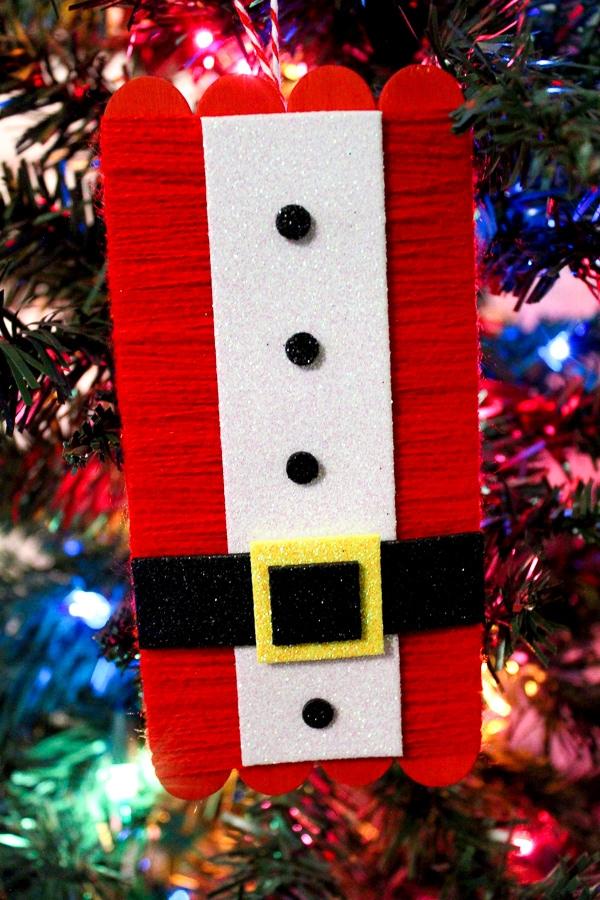 diy Christmas ornament santa suit