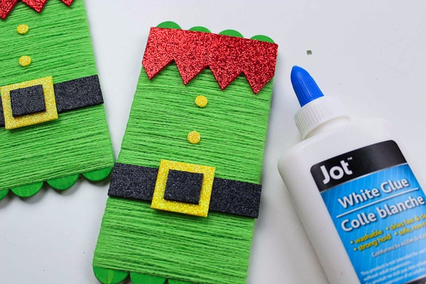DIY elf popsicle stick craft
