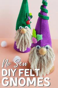 No sew felt gnome craft
