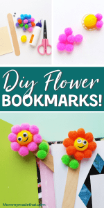 DIY flower bookmark craft