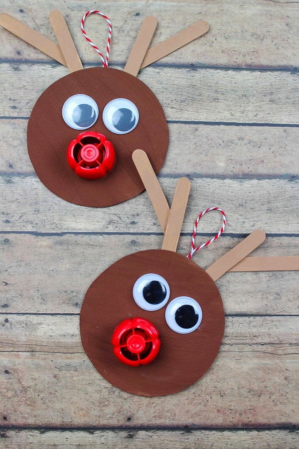 diy rudolph ornament craft