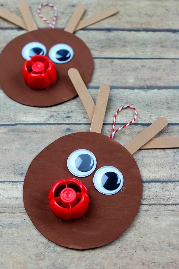 diy rudolph ornament crafts