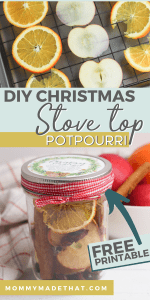 DIY stovetop potpourri for Chirstmas gift