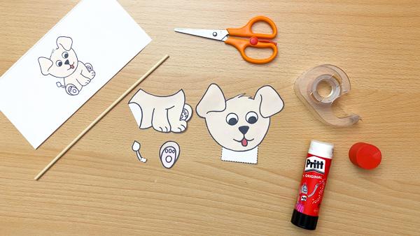 printable dog puppet craft
