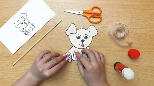 diy dog puppet