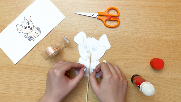 dog puppet craft template