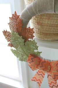 DIY dollar store fall wreath