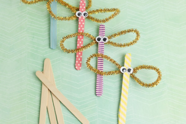 popsicle stick dragonflies