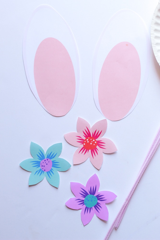 how to make a rabbit with a paper plate