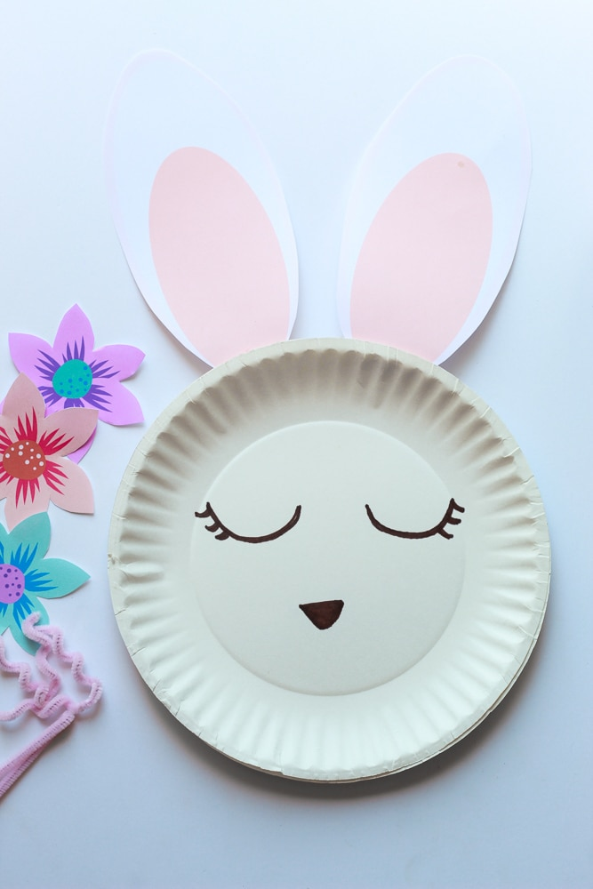 Cute bunny crafts from paper plate