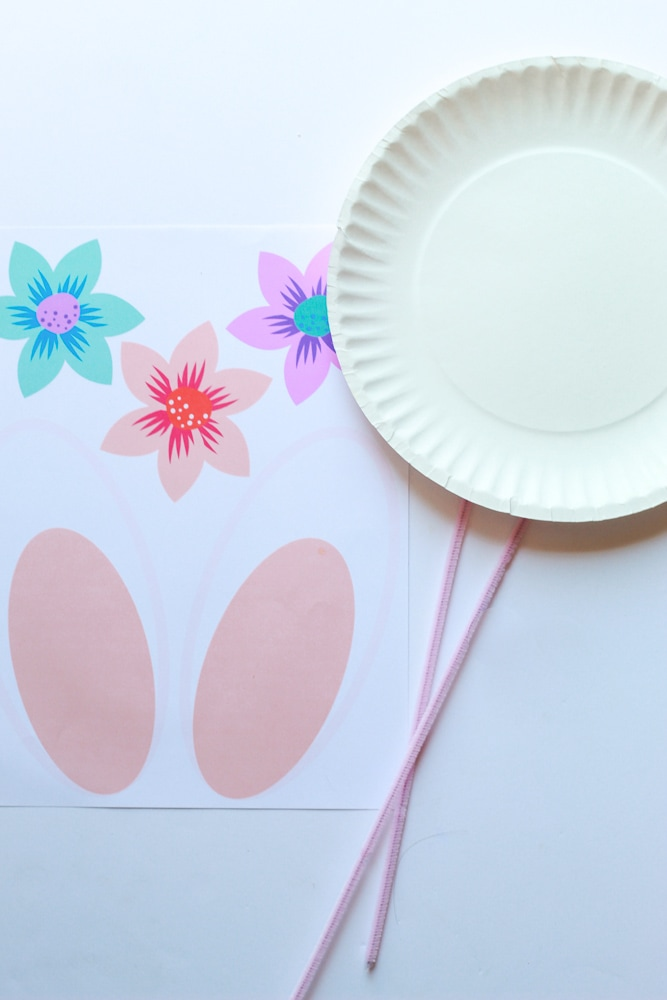 Easter bunny paper plate craft supplies