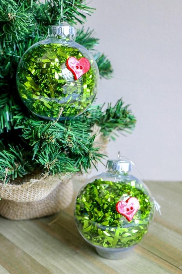 easy grinch ornaments