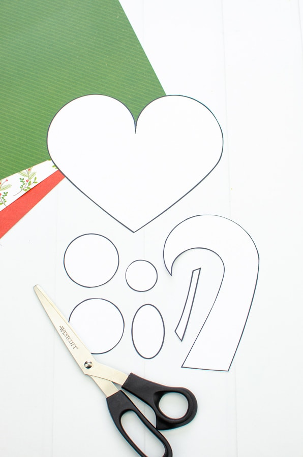 easy heart nativity craft pieces