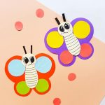 Easy paper butterfly craft
