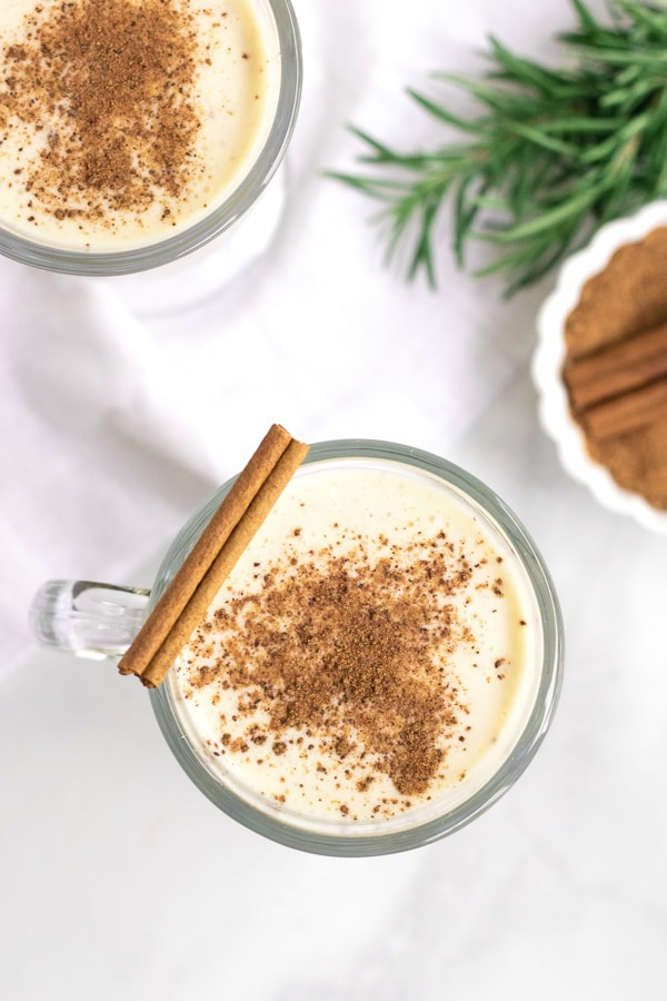 classic, cooked no alcohol eggnog