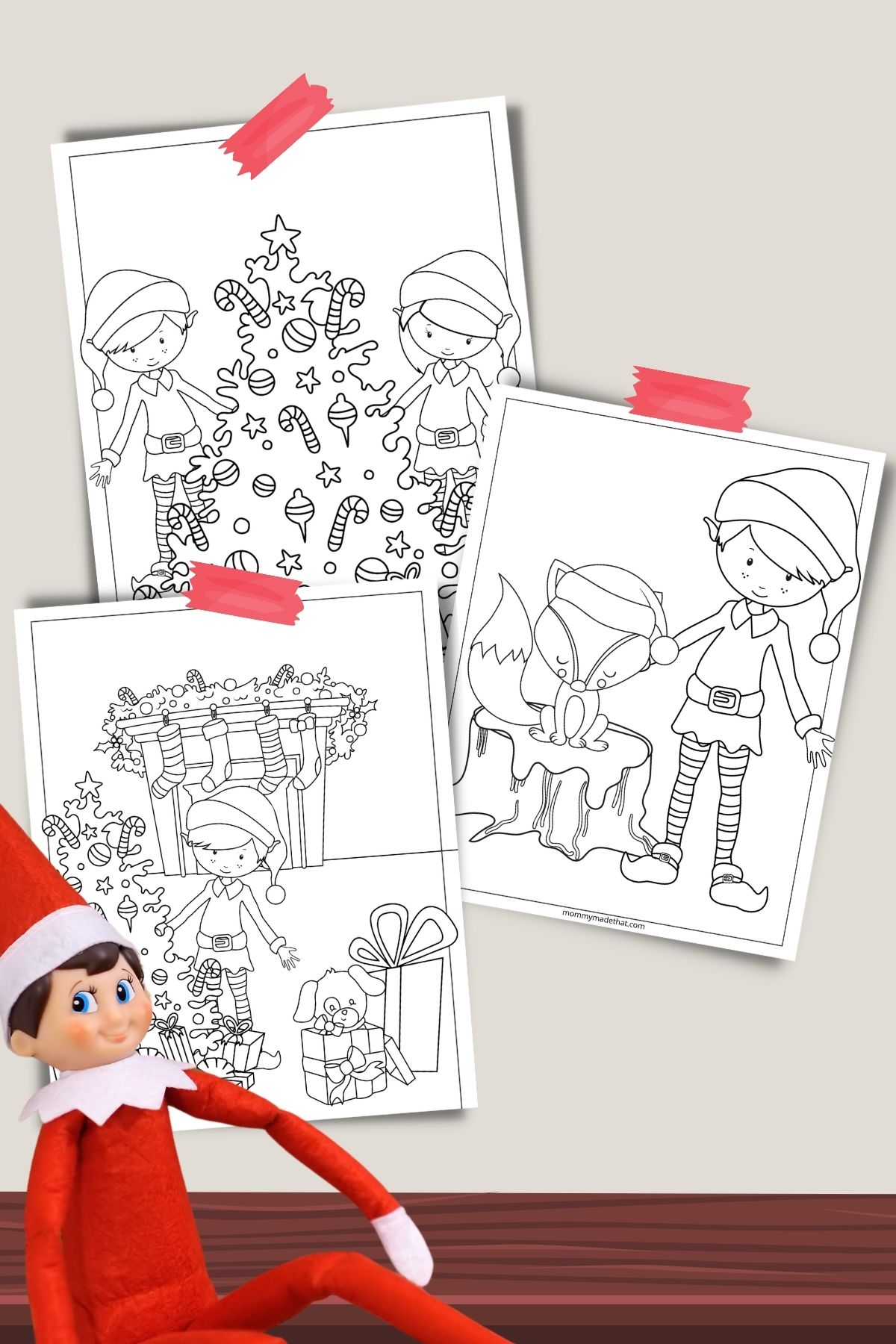 boy elf on the shelf coloring pages