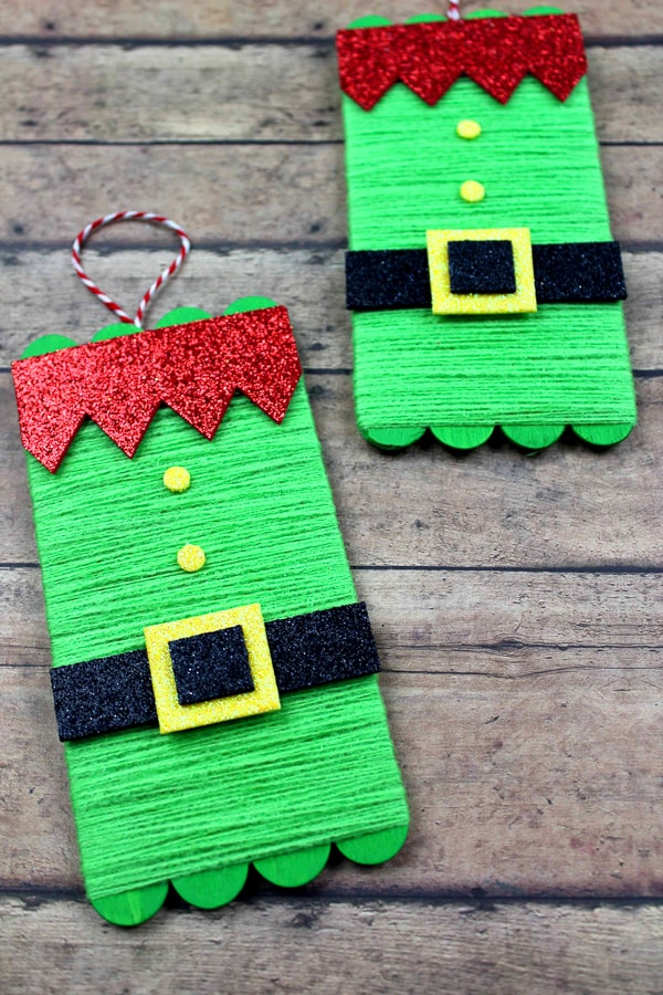 Elf popsicle stick craft