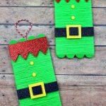 Elf Popsicle stick craft for kids