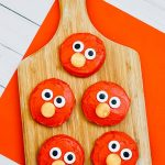 elmo sugar cookies decorated with frosting