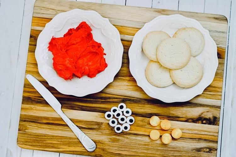 Elmo cookie ingredients