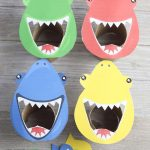 Shark activity for preschoolers color sorting game