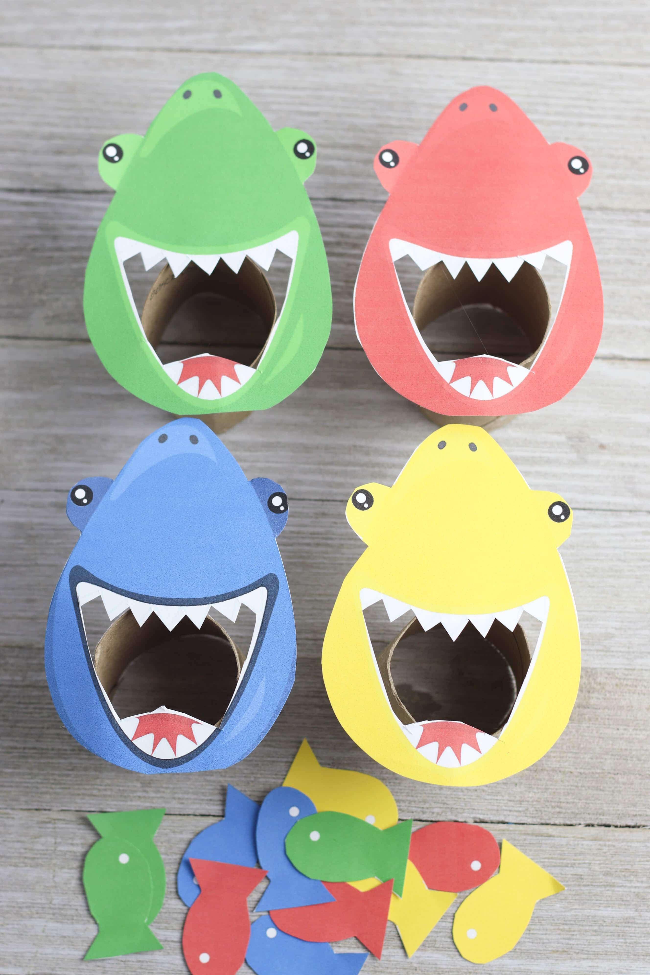 Feed the Shark Game with Free Printable | Mommy Made That