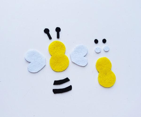 felt bumble bee craft