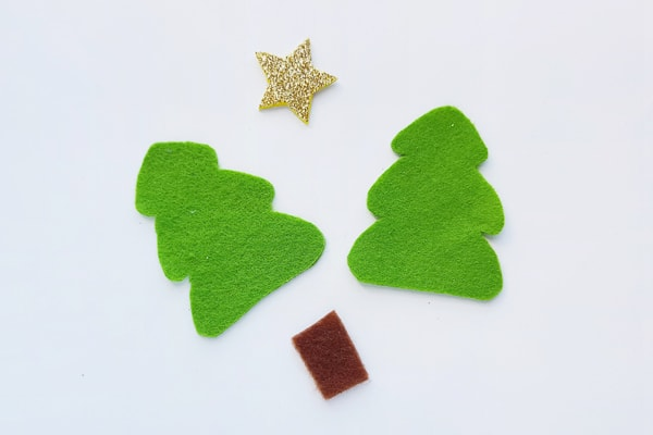 felt christmas tree pieces
