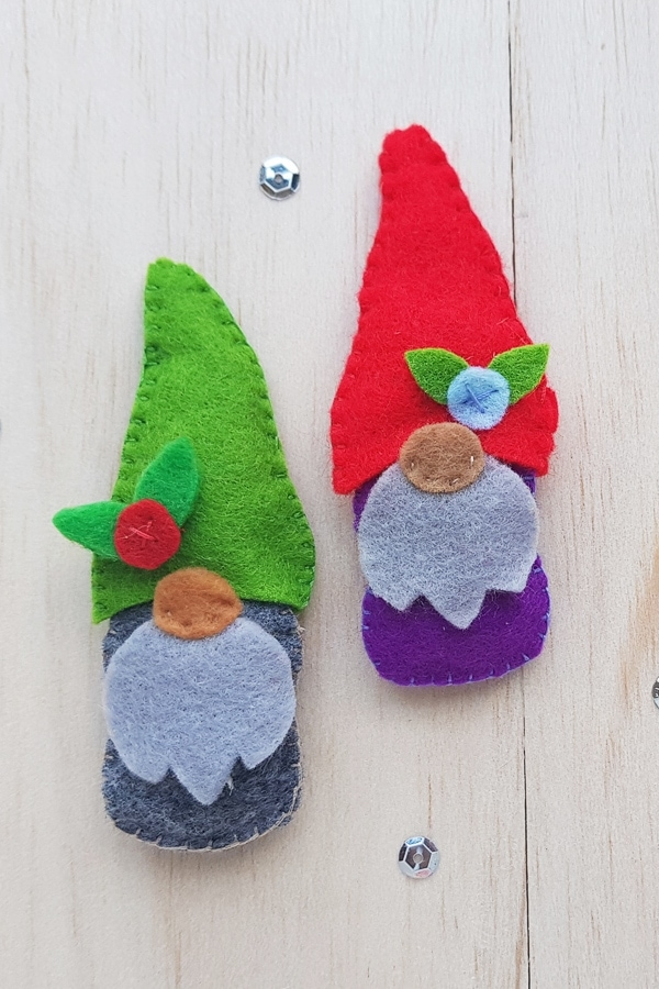 Adorable felt gnome craft