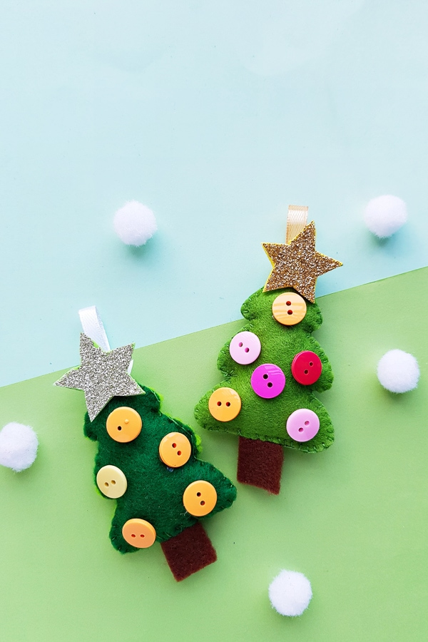 Felt Christmas tree craft ornament