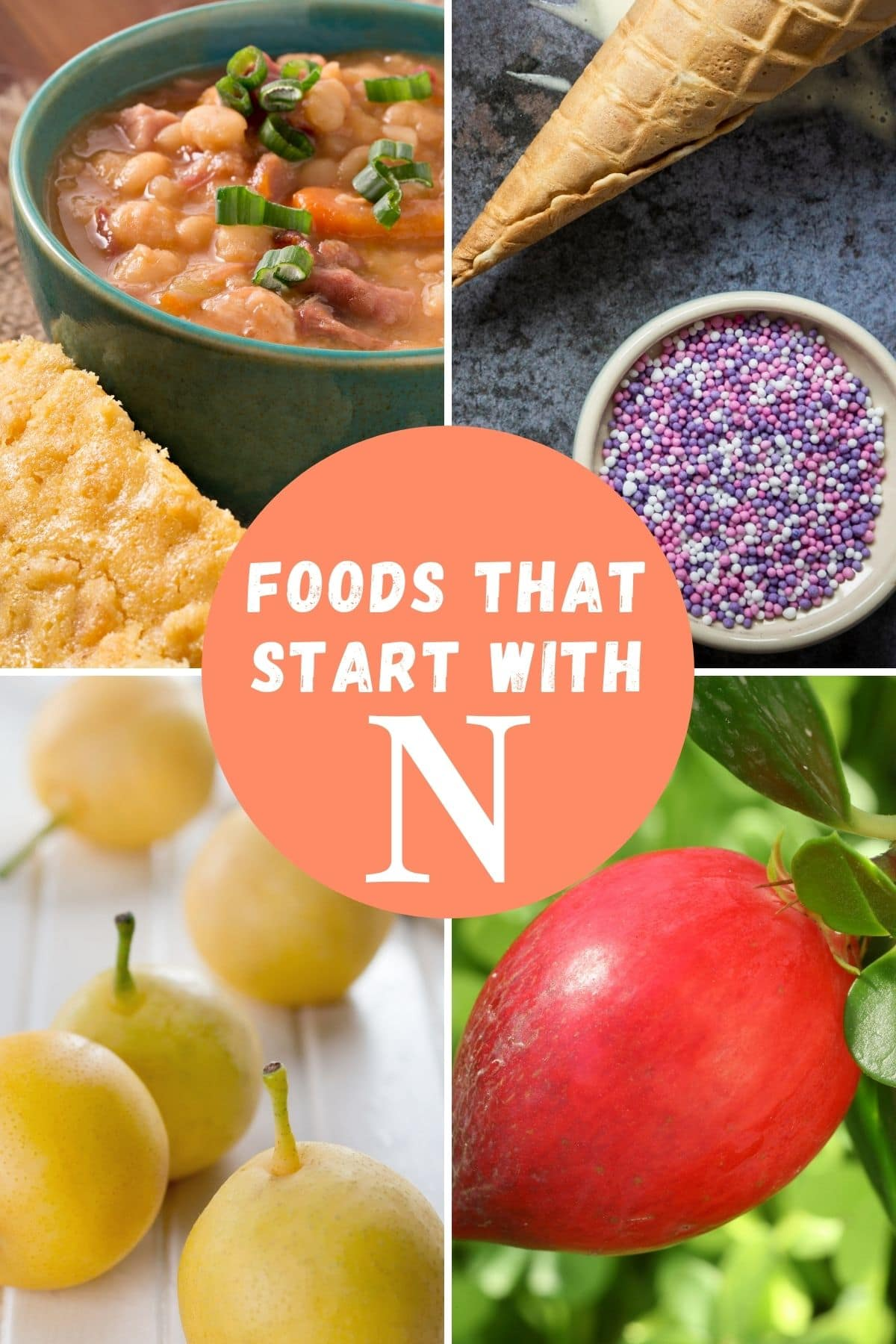 Foods beginning with N