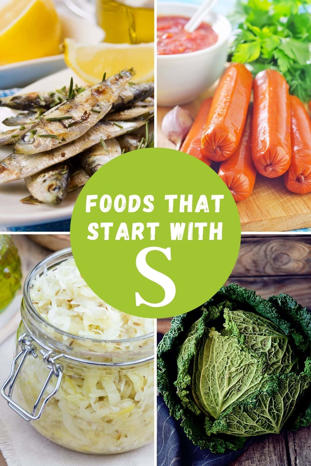foods that start with letter S