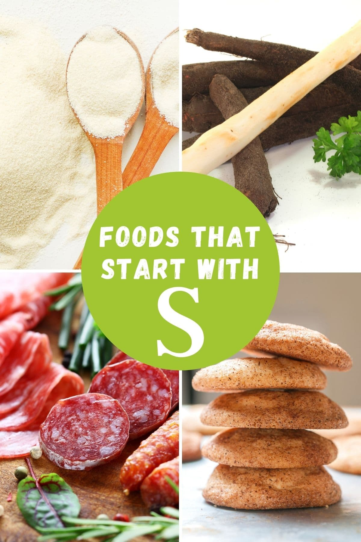 foods that begin with letter S